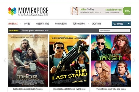 Moviexpose Responsive Blogger Template | Blogger Templates | Scoop.it