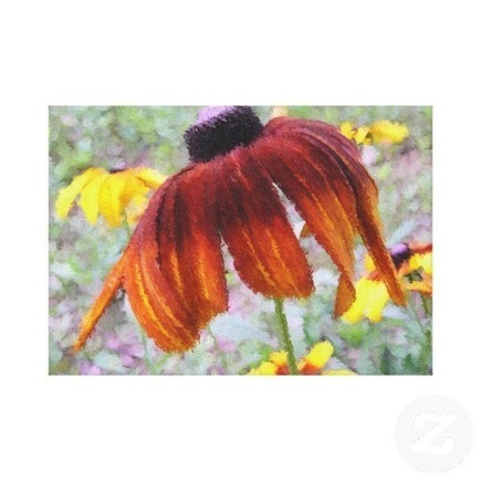 Draped Blanket Flower Wrapped Canvas Canvas Print from Zazzle.com | Wall Art | Scoop.it