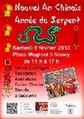 Nouvel an chinois - OnVaSortir! Nancy | Nouvel An Chinois 2013 à Nancy Année du Serpent le 9 février de 11h à 17h place Maginot à Nancy | Scoop.it