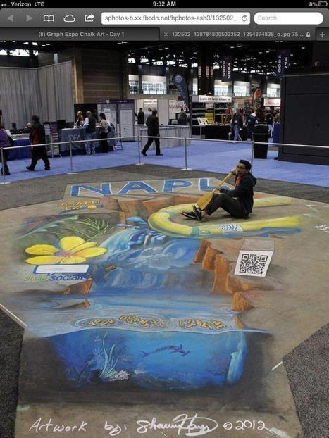 qR code done in 3d chalk art! | artcode | Scoop.it