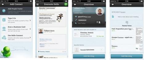 Souvenez-vous de tout le monde avec Evernote Hello (Partie 2/3) | Coaching digital | Scoop.it