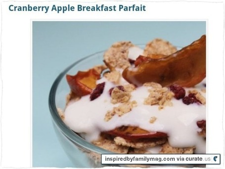 Easy Dinner Recipes: Cranberry Apple Breakfast Parfait | Homemaking | Scoop.it