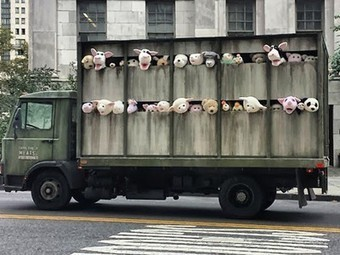 Banksy uses toy animals to highlight animal cruelty and factory ... | Free Range Farming | Scoop.it