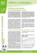 La dépense de protection de l'environnement en 2012 - Ministère du Développement durable | Competitive intelligence and green markets | Scoop.it