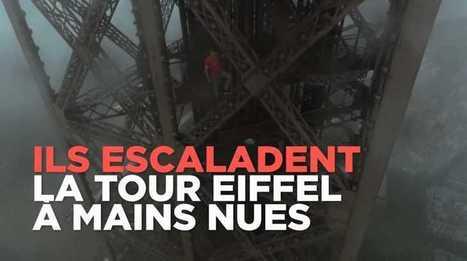 Vertige ! Deux russes ont escaladé la Tour Eiffel à mains nues, filmés par un drone. De quoi s'interroger sur la sécurité autour du site | Drone | Scoop.it