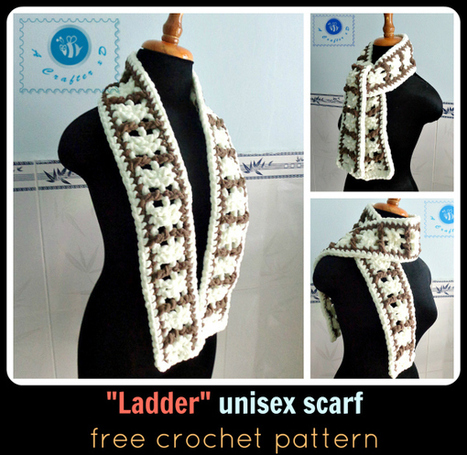 Crochet ladder unisex scarf - Maz Kwok's Designs | crochet for babies | Scoop.it