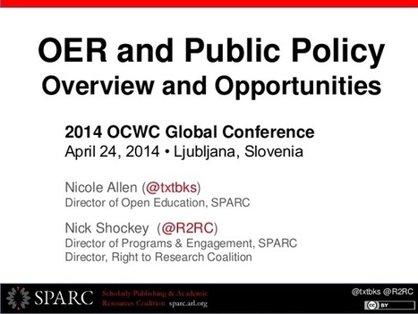 OER and Public Policy: Overview & Opportunities... | Being practical about Open Ed | Scoop.it
