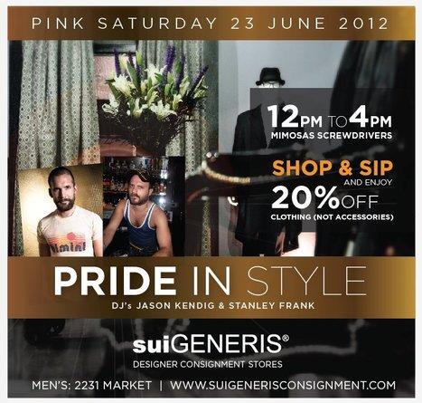Sale | SuiGENERIS, 6/23 | San Francisco | Around Town | Scoop.it