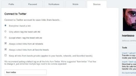 Guarda automáticamente en Delicious los enlaces que publiques en Twitter | eduhackers.org | Scoop.it