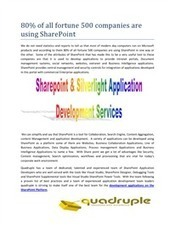 80% of all Fortune 500 Companies are using SharePoint | Mobile Application | Software Developmenet | Scoop.it