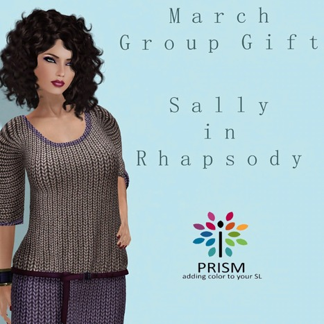 Sally in Rhapsody March 2013 Group Gift by Prism Designs | Teleport Hub | Second Life Freebies | Scoop.it