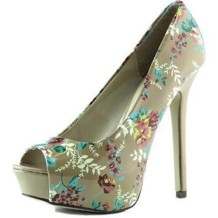 Women's High Heel Platform Stilettos Patent Leather Floral Peep Toe Clubbing Designer Inspire Pumps Fashion Shoes   Wedding Shoes   Scoop.it