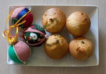 Muffin di Natale con uvetta e canditi (ricetta vegan)   Alimentazione Naturale, EcoRicette Veg e Vegan   Scoop.it