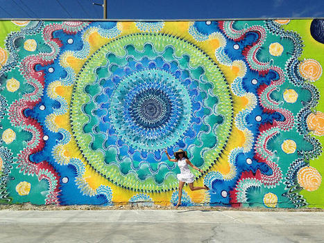 Brightly Colored Murals Mesmerize with Their Hypnotic Abstract Patterns | Le It e Amo ✪ | Scoop.it