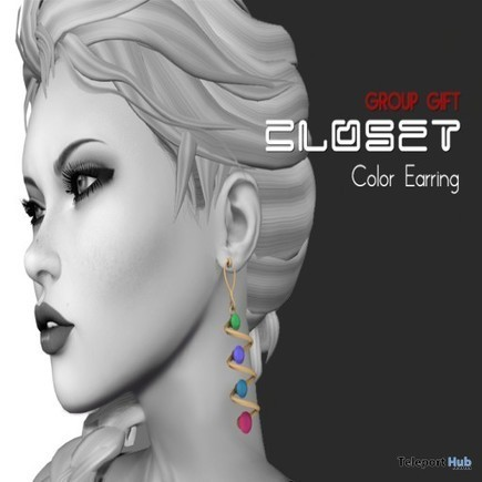 Color Earrings Group Gift by Closet | Teleport Hub - Second Life Freebies | Second Life Freebies | Scoop.it
