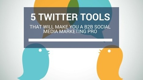 5 Effective Twitter Tools That Will Make You A B2B Social Media Marketing Pro | Surviving Social Chaos | Scoop.it