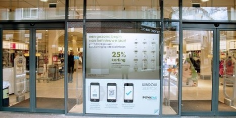 Windowsketch maakt reclamezuil van etalageruit | Creative Feeds | Scoop.it