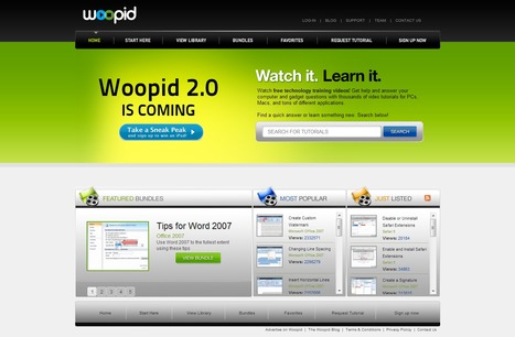 Woopid Video Tutorials | Time to Learn | Scoop.it