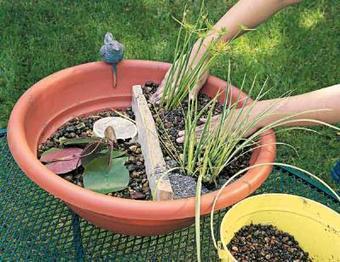 Initiales GG, une fille mais pas que...: DIY : un bassin avec une fontaine en version mini! | DIY DIY | Scoop.it