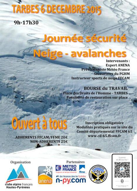 Journée sécurité neige et avalanches avec l'ANENA le 6 décembre à Tarbes | Vallée d'Aure - Pyrénées | Scoop.it