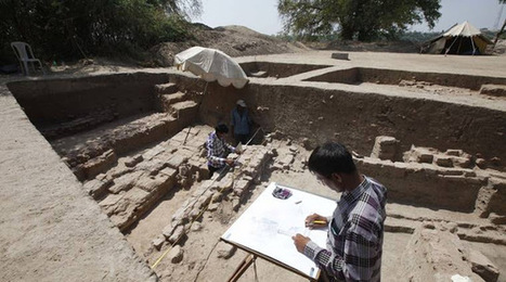 Remains of Buddhist monastery unearthed in Vadnagar, Gujarat | Histoire et Archéologie | Scoop.it
