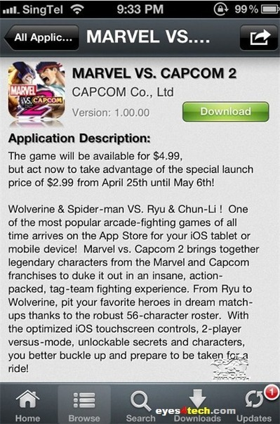 Download Marvel VS Capcom 2 For iPhone And iPad On iTunes | Eyes4Tech.COM | Randomness | Scoop.it