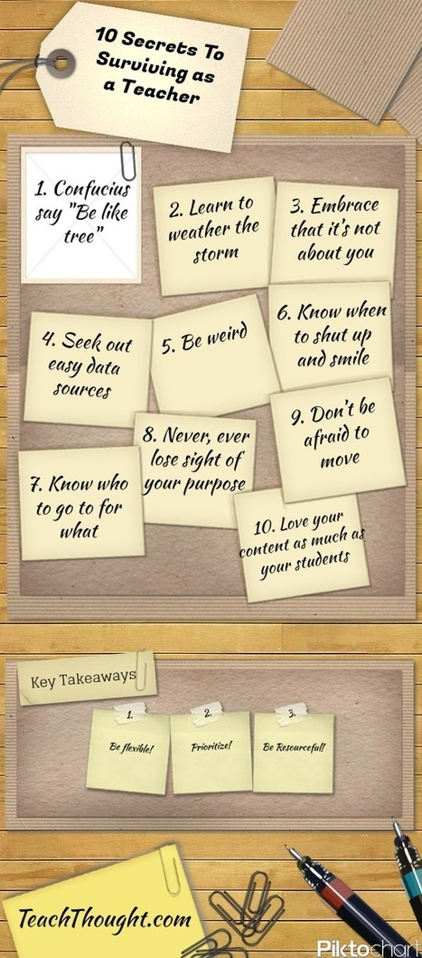 Ten secrets to surviving as a teacher | Teaching & Learning Resources | Scoop.it