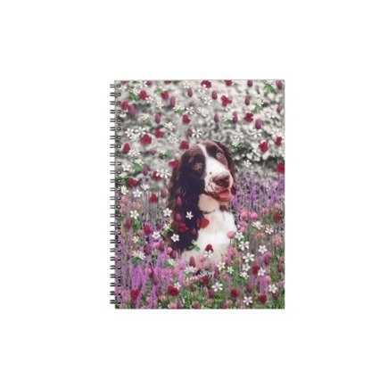 Lady in Flowers - Brittany Spaniel Dog Note Books from Zazzle.com | Fanciful Animals to Delight You | Scoop.it