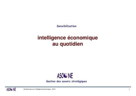 Intelligence économique au quotidien | D&IM | Technologies | Scoop.it