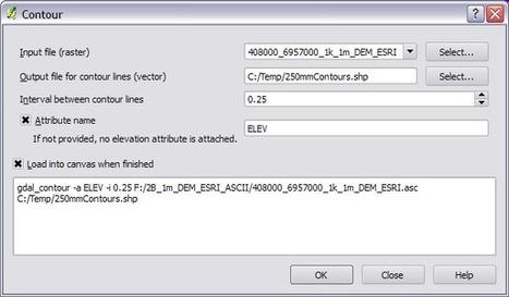 Extraindo curvas de nível do SRTM usando o QGIS | Geoprocessing | Scoop.it