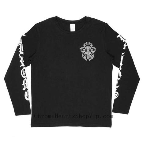 New Arrival Chrome Hearts Cross Rhinestone Blak T-shirt Discount Store | nice website | Scoop.it