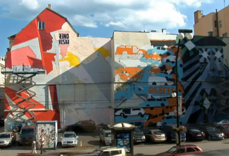 Watch street artist Tron work on piece for Prague's Stuck On The City exhibition | World of Street & Outdoor Arts | Scoop.it