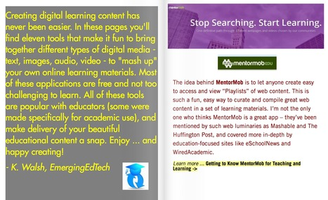 Awesome digital mash up tools for creating Digital Learning Content | Edumorfosis.it | Scoop.it