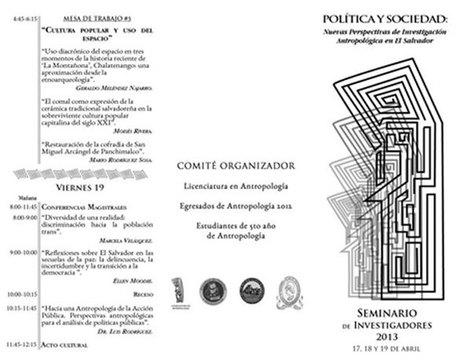 Seminario de Investigadores 2013 | contrACultura Noticias El Salvador | Scoop.it