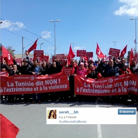 Des dizaines de milliers de manifestants marchent à Tunis contre le terrorisme | CRAKKS | Scoop.it