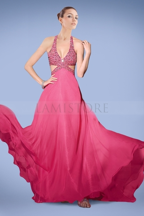 Ethereal A-line Prom Dresses Gown in Fuchsia with Shimmering Crystals : Lamistore.com | Lamistore Fashion Prom Dresses | Scoop.it