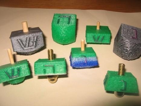3D Printable Dreidels for Hanukkah | 3D Printing and Fabbing | Scoop.it