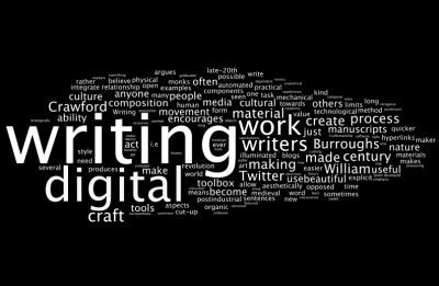 Digital Writing as Handicraft? | #digiwrimo: Digital Writing Month | Scoop.it