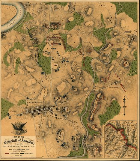 Map of the battlefield of Antietam | The Civil War | Scoop.it