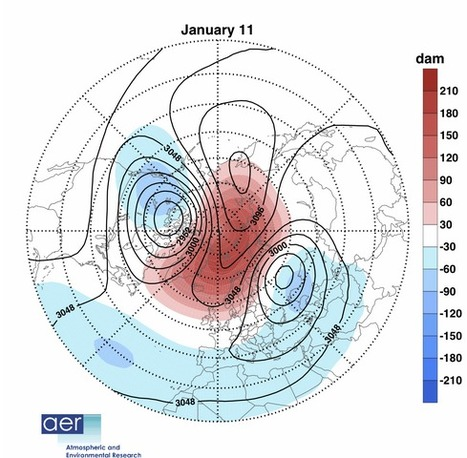 Unusual sudden stratospheric warming event is bringing frigid cold to U.S. and parts of Europe | WWWBiology | Scoop.it