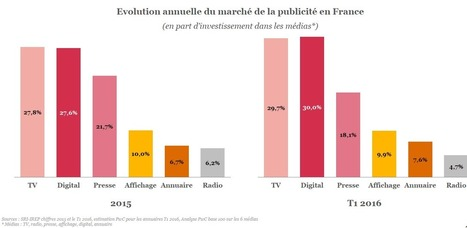 La pub digitale dépasse la pub TV en France, selon le SRI | CB Expert | Digital Social Club | Scoop.it