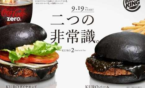 Burger King's New Black Burgers Sold in Japan [PHOTOS] | MarketingHits | Scoop.it