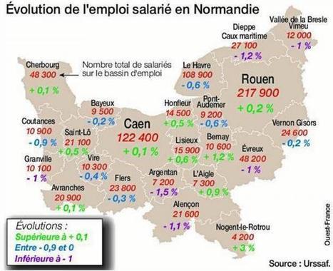 Emploi. Moins de salariés en Normandie   Emploi Calvados   Scoop.it