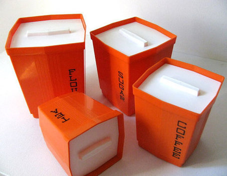 70s Orange MOD Storage ContainersMax Klein Inc USA by orangepad | All About Vintage | Scoop.it