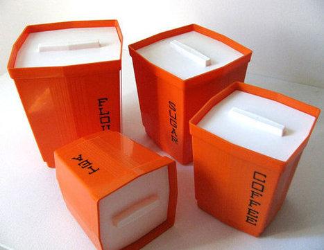 70s Orange MOD Storage ContainersMax Klein Inc USA by orangepad | All About Vintage | Scoop.it
