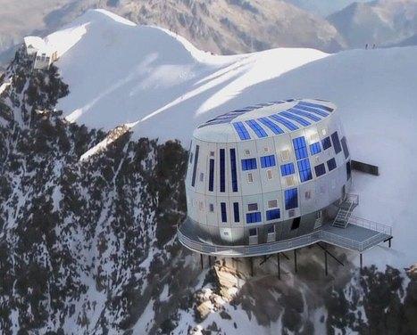 EXCLUSIF : Le plus haut refuge de France, dans le Mont-Blanc, a été habillé avec des feuilles inox de Gueugnon - Bienvenue sur Creusot Infos | ski de randonnée-alpinisme-escalade | Scoop.it