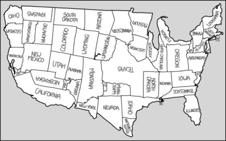 xkcd: United States Map | Geography Education | Scoop.it