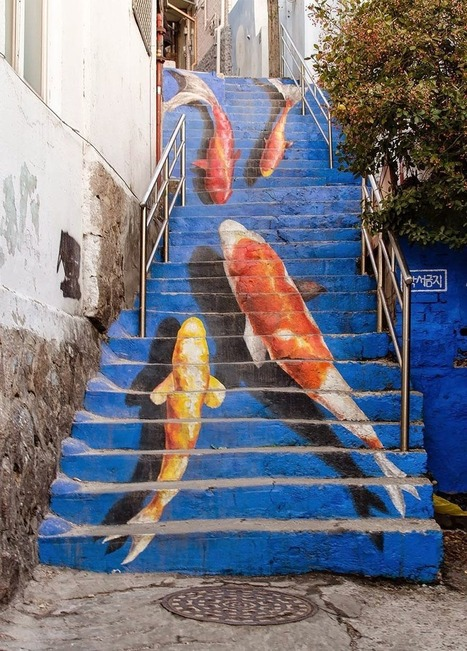 17 Beautifully Painted Stairs From All Over The World | Everything Photographic | Scoop.it