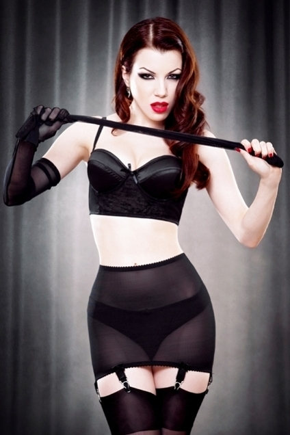 Black Vargas Roll-on Girdle by Kiss Me Deadly in Girdles and Shapewear | VIM | Scoop.it