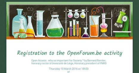 Registration to the OpenForum.be activity. Brussels March 10, 18:30. | Open Access to Scholarly Publishing | Scoop.it